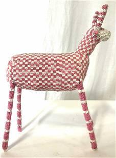 Handmade Seed Beaded Llama Figural