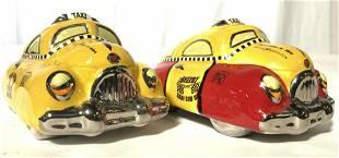 UNIQUE PRODUX Porcelain Taxi Salt & Pepper Shakers