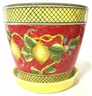 French Province Style Ceramic Fruit Planter