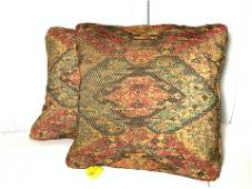 Pr Vintage Southwestern Patterned Toss Pillows