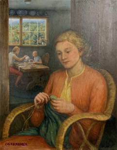EDITH MAGLER Signed Oil on Panel Painting