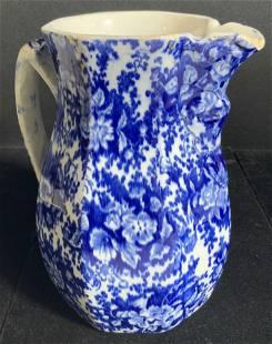 Signed Vintage Ceramic Splatterware Pitcher