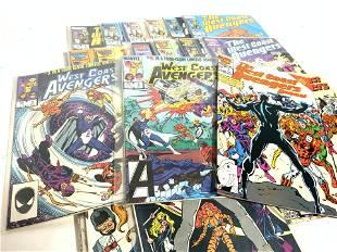 Group Lot Vintage WEST COAST AVENGERS Comics