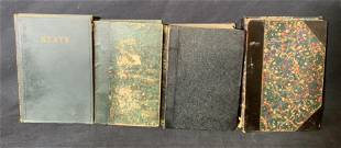 Group Lot 4 Leather Bound Books