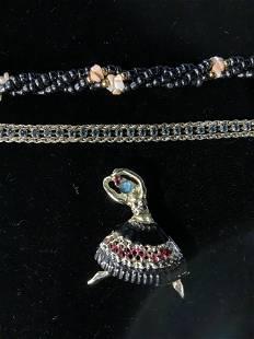 Lot 3 Jewelry, Bracelets & Brooch