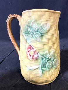 MAJOLICA Vintage Porcelain Pitcher