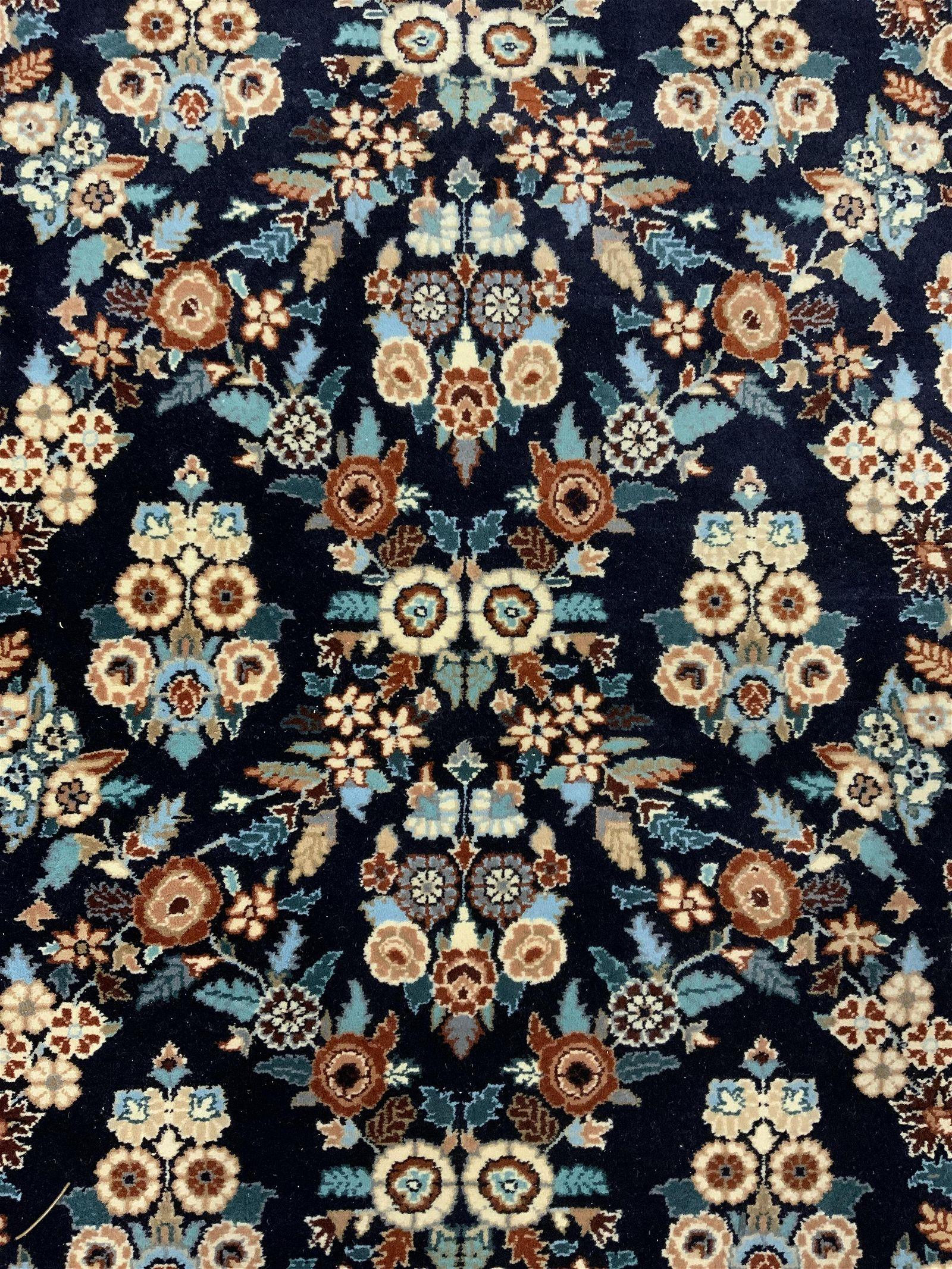 Floral Oriental Fringed Area Rug