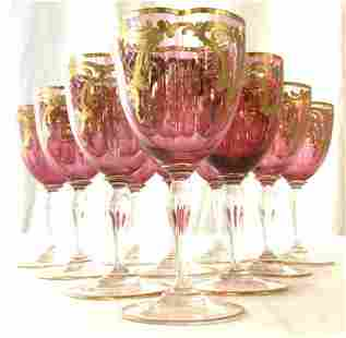 Set 10 Venetian Glass Stemware