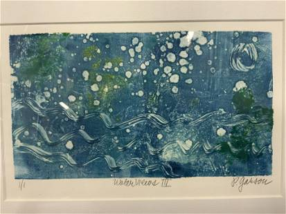 P. Garrison Signed Waterviews Watercolor