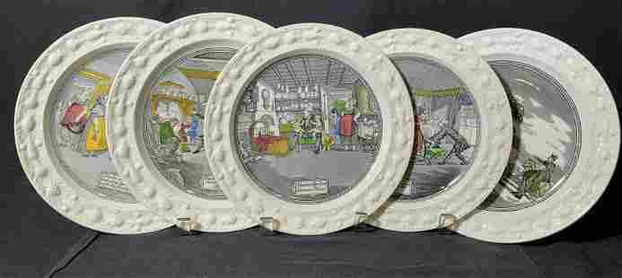 Lot 5 ADAMS Vintage Ceramic Plates