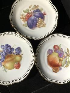 Schuman Arzberg Porcelain Fruit Plate Set 12, Ger