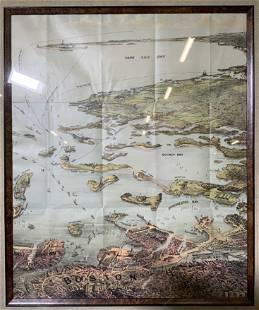 Antique Boston and Cape Cod Map