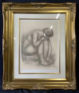 PIERRE AUGUSTE RENOIR Signed Nude GicleeLithograph