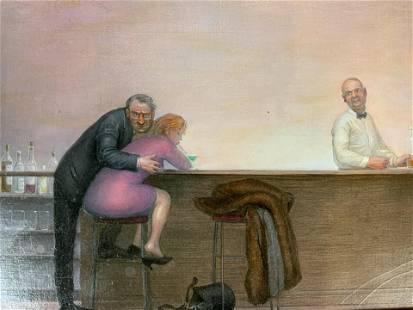 JENNIFER LI Signed Oil Painting, Crème de Menthe
