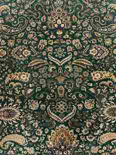 Vintage Oriental Fringed Room Sized Wool Rug