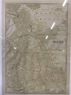 GEORGE F. CRAM Map of Boston