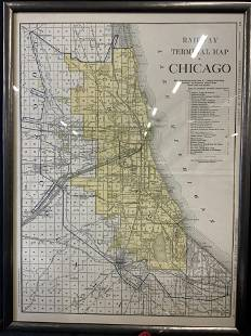 Railway Terminal Map of Chicago