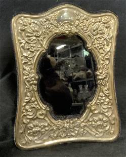Antique Emp Plate Sterling Silver Frame, Mexico
