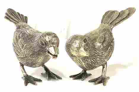Lot 2 Pewter Bird Figures