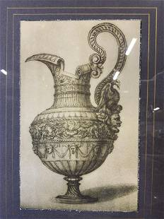 Decorated Jug Lithograph