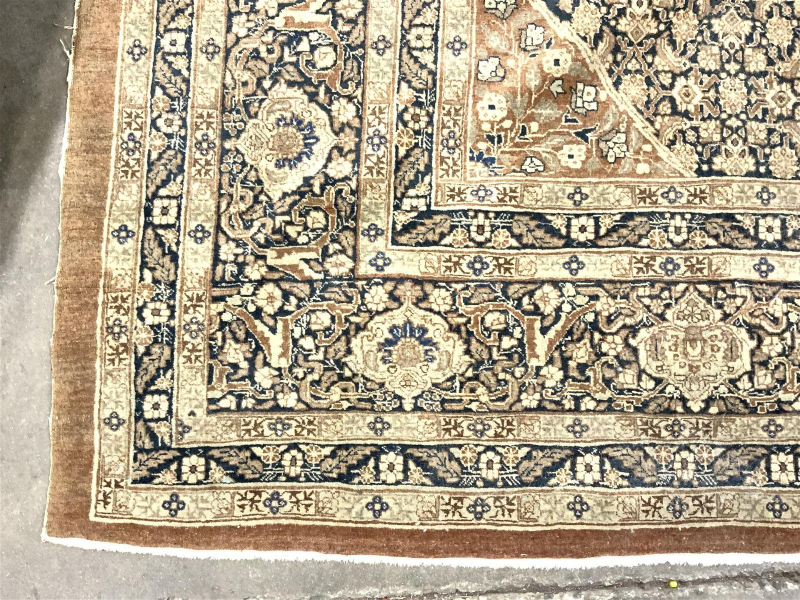 Antique Persian Tabriz Oversized Handmade Wool Rug