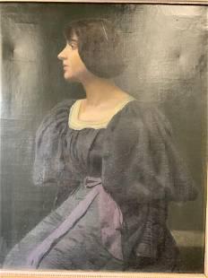 Framed Portrait Oil on Canvas