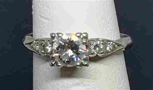 Diamond Art Deco & Platinum Ring, Vintage