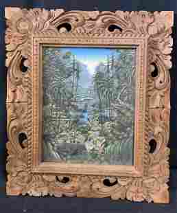 WAYAN EBEN Signed Oil on Canvas