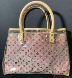LOUIS VUITTON FRENCH Transparent Red LV Handbag