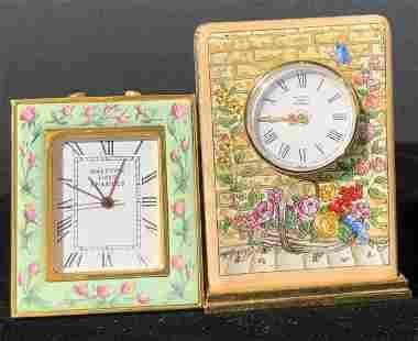 HALCYON DAYS ENAMELS Desktop Clocks