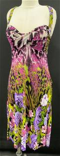 2pc SAY WHAT Cardigan & Floral Pattern Dress