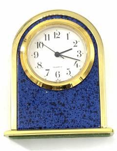 Lot 2 MIKIMOTO & More Brass Desktop Clocks
