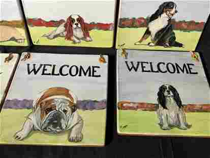 SIGNED ZEPPA Dog Terracotta Welcome Signs