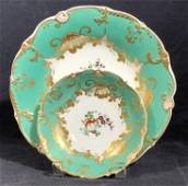 Pair Early European Porcelain Hand Painted Plates