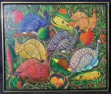 CHRISTABAL Vibrant Game Bird Acrylic on Board