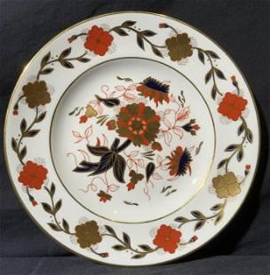 ROYAL CROWN DERBY Bone Floral Bone China Plate