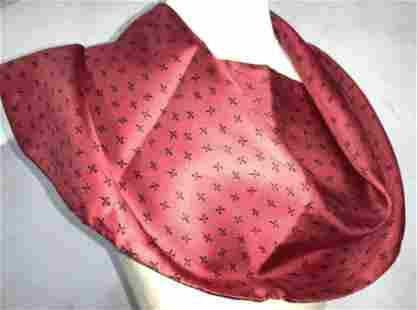 FLEUR DE LIS Red and Black Silk & Wool Scarf