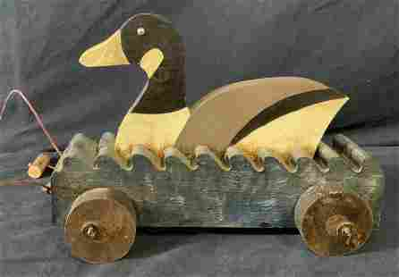 Antique Children's Duck Pull Along Toy