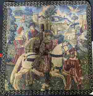 Renaissance Styled Wall Tapestry of Man on Horse