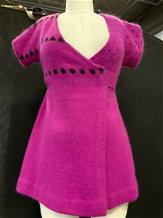 HENRI BENDEL Lux Vintage Wrap Sweater, England