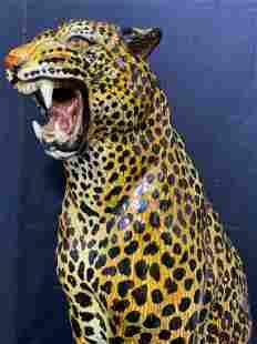 Ceramic Jaguar Sculpture