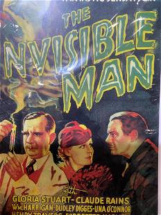 THE INVISIBLE MAN Movie Poster Lithograph