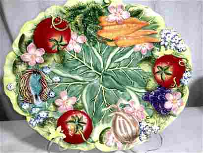 FITZ&FLOYD Country Chic Majolica Plate