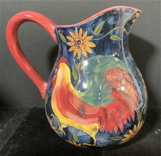 SUSAN WINGET Hand Painted Pitcher