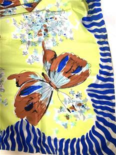 Silk Butterfly Square Scarf in Org Alexander's Box