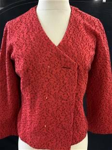 Ladies Vintage wool Red Skirt Suit, KIMBERLY