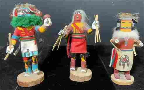 Group Lot Native American Kachina Dolls