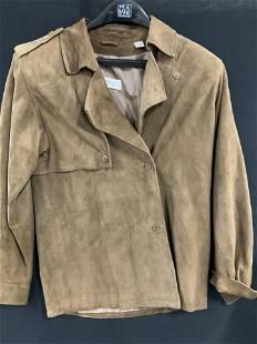 Ellen Tracy Vintage Brown Suede Jacket