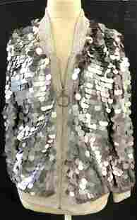 Large Cascading Silver Sequin Jacket