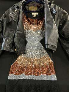 Express leather Jacket, Sequined Tank Top, Ladies